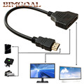 30CM V1.4 1080P HDMI Male to 2 Female Port 1X2 1 In 2 Out HDMI Splitter Cable Switch Adapter Converter for HDTV Tablet XBOX