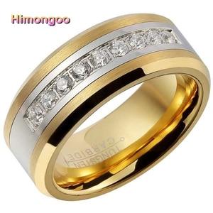 HIMONGOO 8MM Gold Men's Tungst