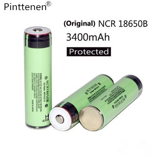 Free shopping Nouveau Protégé 100% D'origine batterie Rechargeable 18650 NCR18650B 3400 mah avec PCB 3.7 V lampe de Poche piles