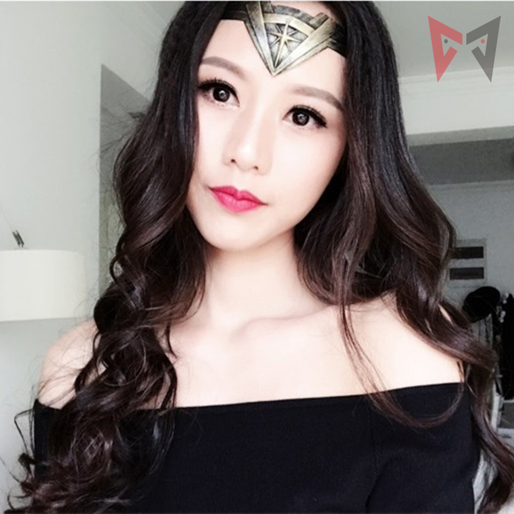 MMGG Movie Cosplay Wonder Woman  Headband Cosplay Badge Accessories