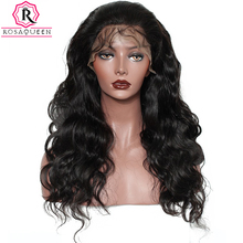 Rosa Queen 250% Density Lace Front Human Hair Wigs For Black Women Body Wave Brazilian Remy Hair