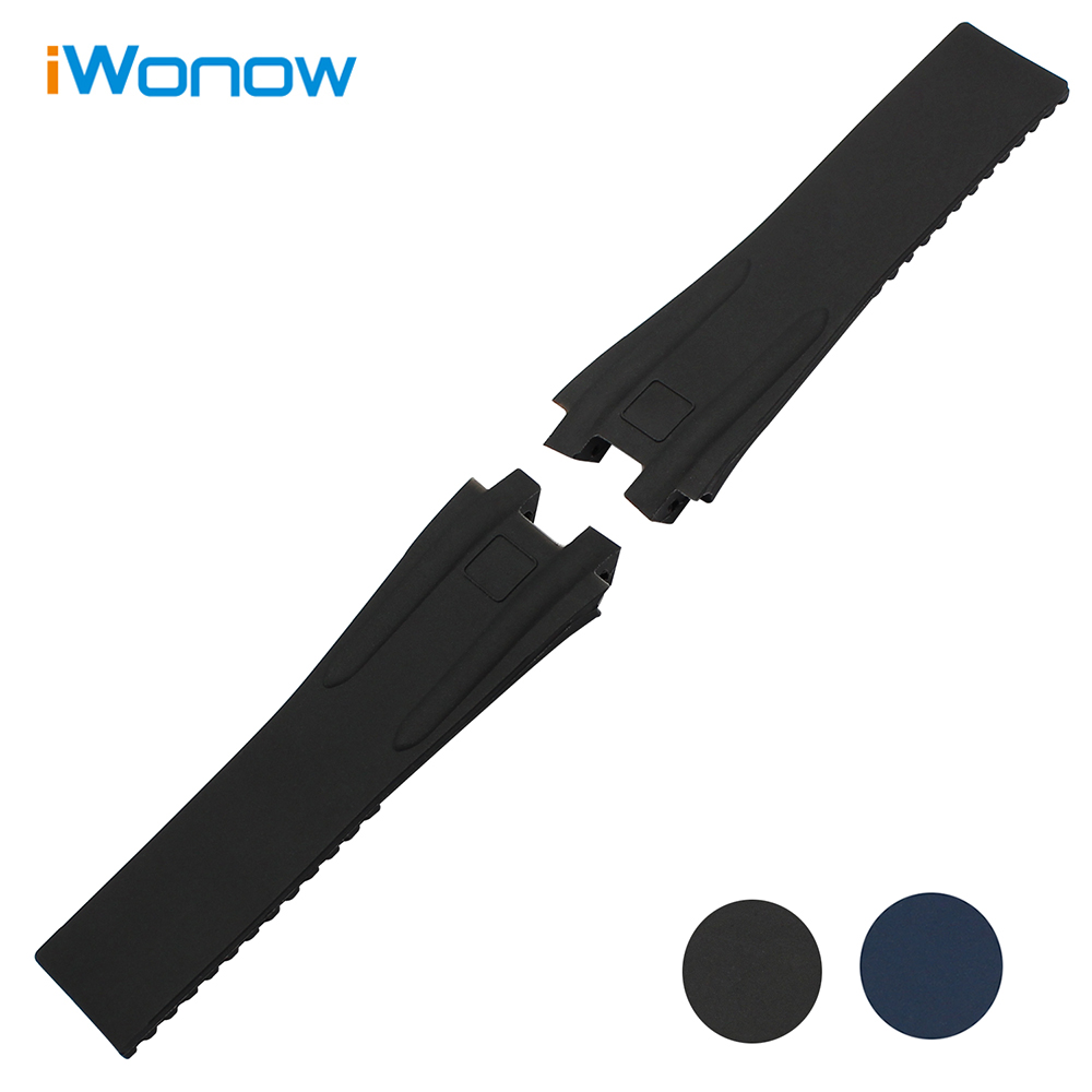 Soft Rubber Watchband 26mm for Executive 243 Men Replacement Silicone Watch Band Steel Butterfly Buckle Wrist Strap Black Blue eache silicone watch band strap replacement watch band can fit for swatch 17mm 19mm men women