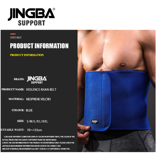 JINGBA SUPPORT fitness belt Back waist support sweat belt waist trainer waist trimmer musculation abdominale Sports Safety 5