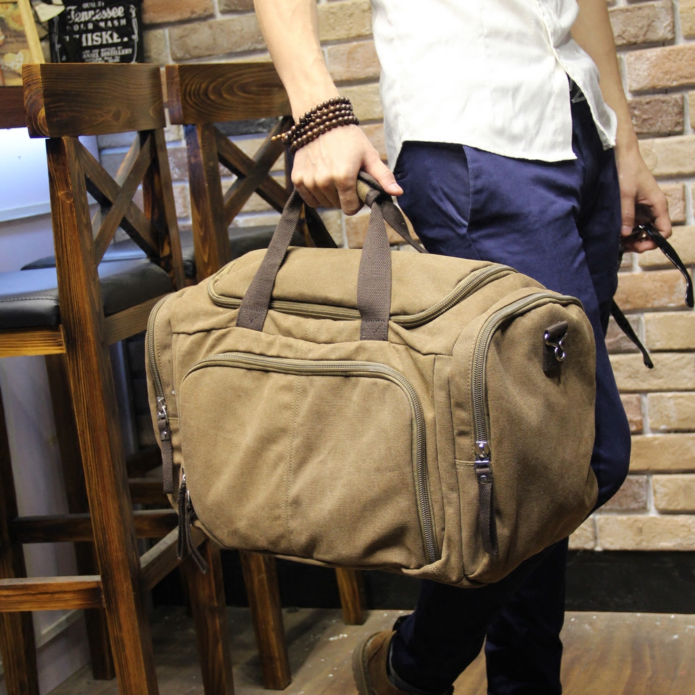 Vintage Canvas Men Travel Bags Weekend Carry on Luggage & Bags Leisure Duffle Bag Large Capacity Tote Business Bolso 5010s dc 12v 0 1a brushless cooling fan 4 2cm diameter page 4