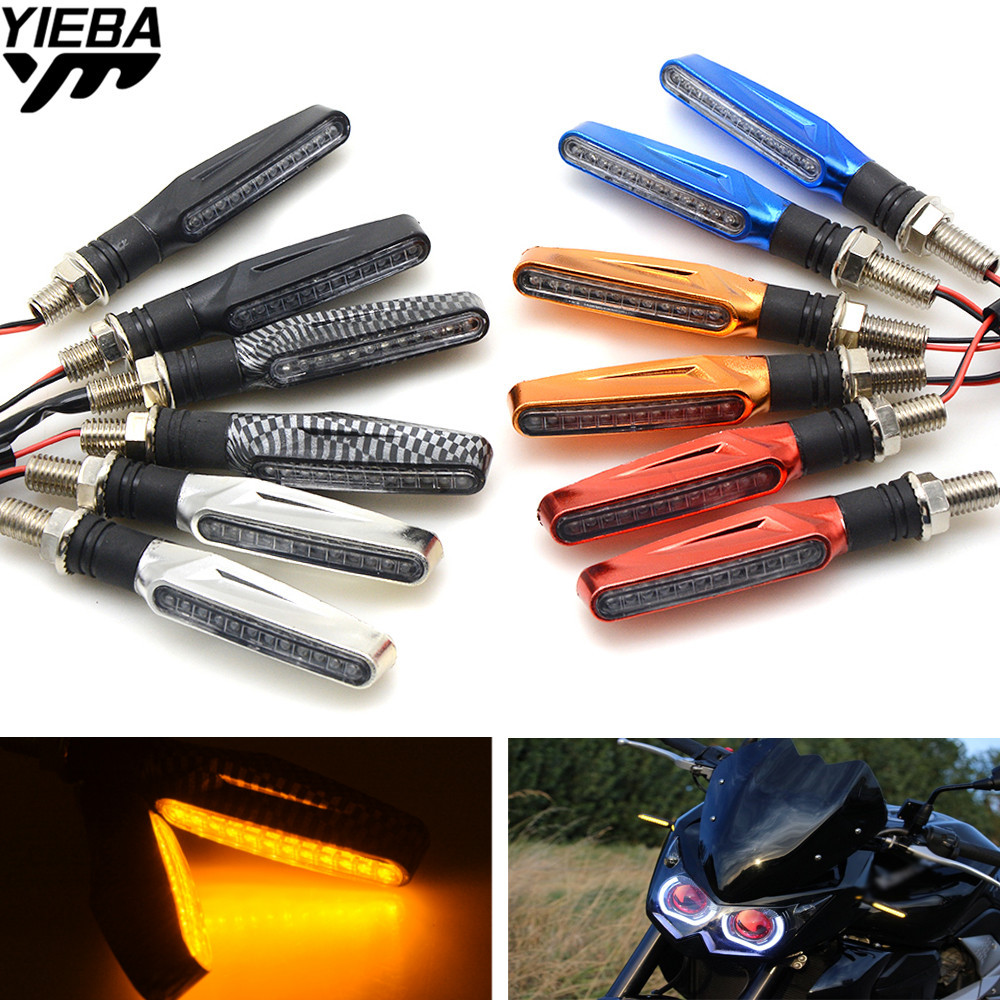 Universal LED Motorcycle Turn Signal Indicators Light For Ducati 1098 S 899 Panigale 1199 1299 Panigale S 1198 S KTM 200 DUKE