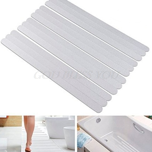 6Pc Bath Shower Anti-Slip Tapes Non Slip Strips Pad Flooring Safety Mat Stickers