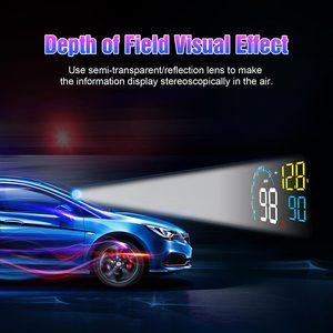 Image 4 - 2020 Hot Obd Hud Head Up Display On Board Auto Computer C600 Digitale Snelheidsmeter OBD2 Projector Rijden Brandstofverbruik