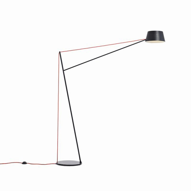 Contemporary Floor Lamp with Long Arm