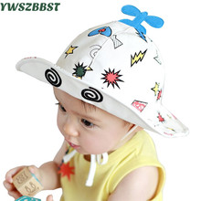 Summer Hat Baby Sun Cartoon Plane Beach Fisherman Caps Infant Cap for 5 Months -18