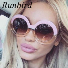 Oversized Big Round Frame Sunglasses Women Luxury Sunglasses Brand Designer Circle Vintage Retro Sun Glasses Female Shade 284R
