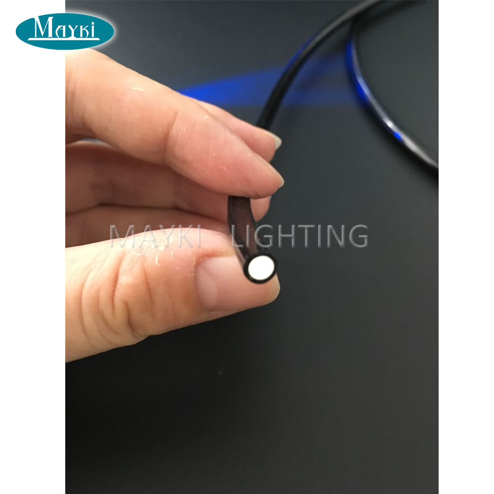 Maykit Sauna End Emitting Optical Fiber Cable With Black Pvc Coating 700m/Roll 1.5mm Suitable For All Light Engine Using