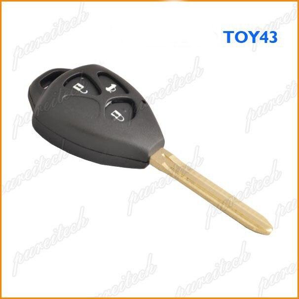 PREISEI 5 шт./лот 3 кнопки автомобиль ключевой случай дистанционного fobs замены для Toyota Camry