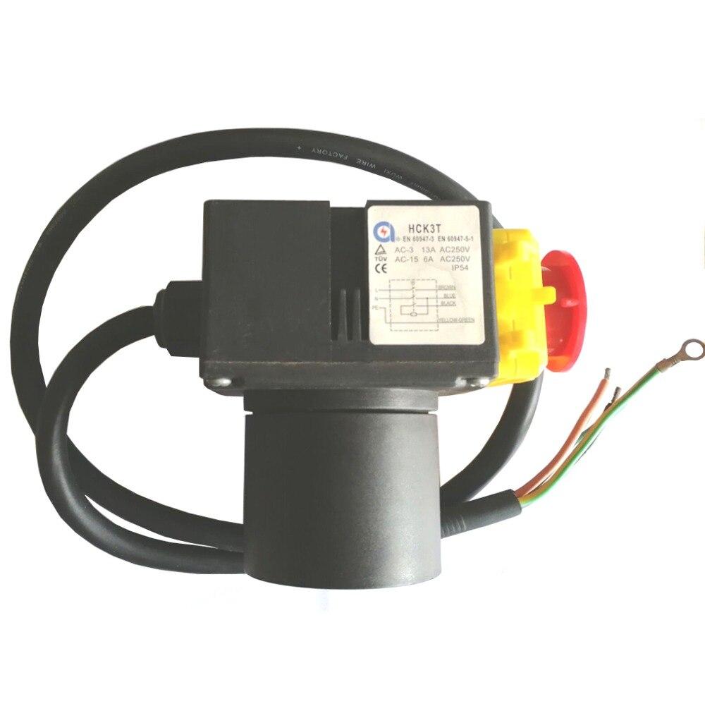 HCK3T 250 V 16 (13) A interrupteur à bouton-poussoir électromagnétique industriel interrupteurs à bouton-poussoir pour fendeur de bois