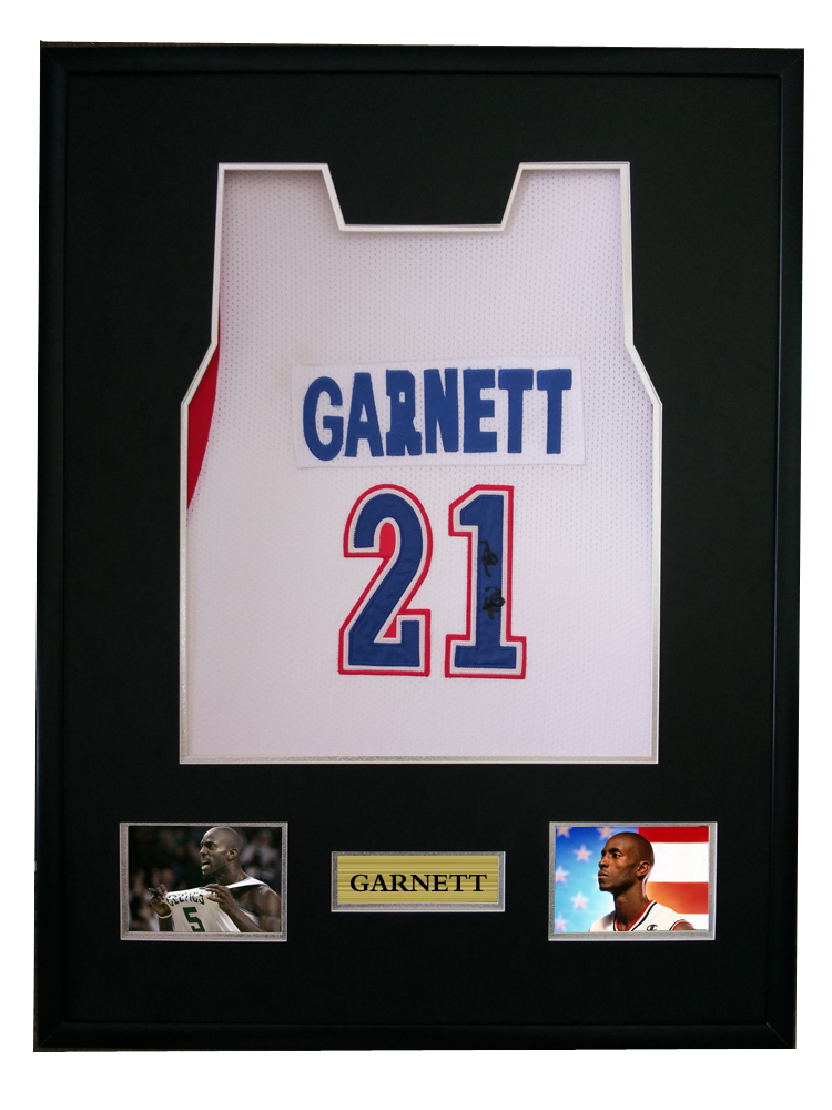 cheap for discount 700af 2214a US $750.0 |Kevin Garnett signed autographed basketball shirt jersey come  with Sa coa framed All Star Game-in Frame from Home & Garden on ...