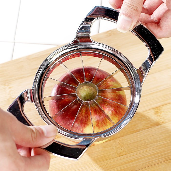 Apple cuter stainless steel kitchen gadget cut fruit artifact 12 sheet cut into
