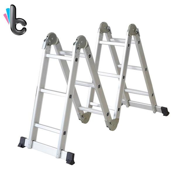 Extension Ladder Safety : Aluminum folding scaffold work ladder adjustable