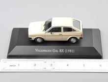 1/43 Scale Cheap toys Atlas  Gol BX 1981 Type Diecast Car Model Begie Color Model Car Model Kids Toy стоимость