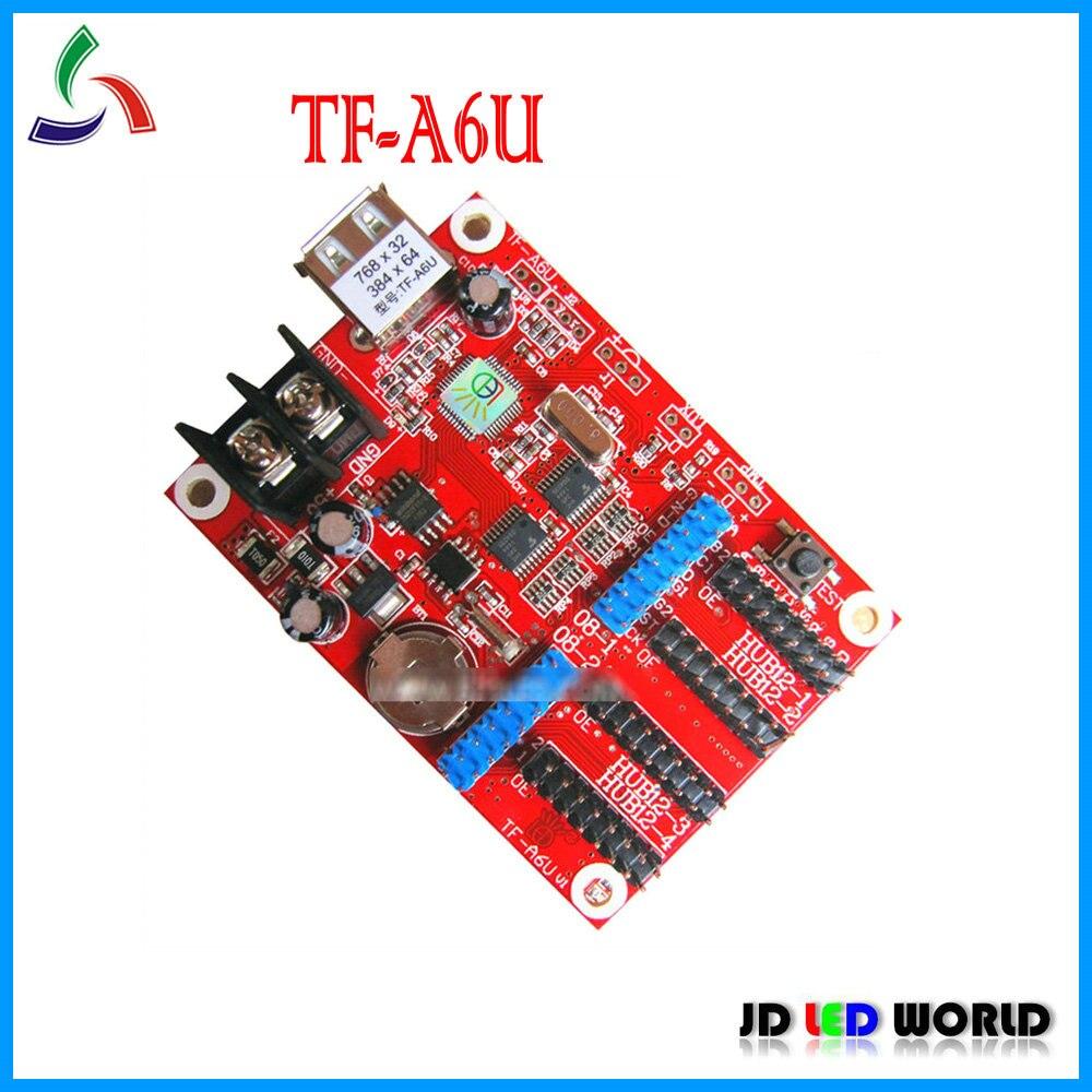 TF A6U TF A5U led scrolling sign led moving sign controller card