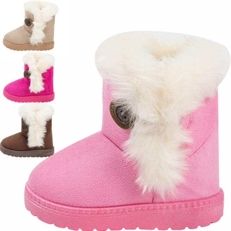 Women Winter Ankle Boot Fur Lined Buckle Snow Belt Outwear Warm Velvet Shoes New