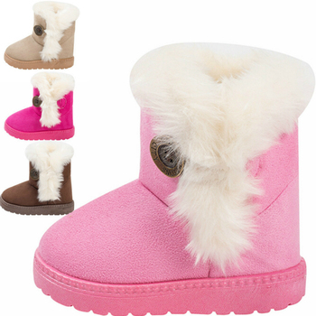 326af0e33ea03 Winter Baby Boys And Girls Shoes Kids New Fashion Snow Boots Warm Cotton  Thick Buckle Strap