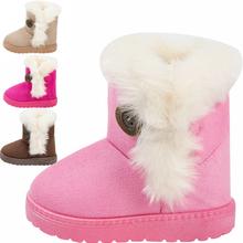 Zima Baby Boys and Girls buty dla dzieci nowe mody Snow buty ciepłe bawełny grube klamry pasek buty dzieci Odzież tanie tanio 2-3Y ChanJoyCC Klamra Kostki Tkanina bawełniana Pasuje do rozmiaru Weź swój normalny rozmiar Śnieg buty Gumowe Klamra pasek