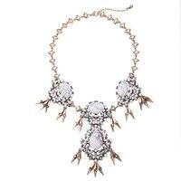 Kpop lega di colore dell'oro della catena maxi grande collana collier femme shopping online india moda marmo collana choker