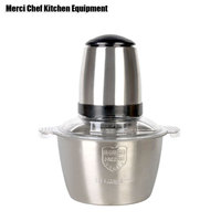 Food Processor MIXER Food Machine Household Stainless Steel Meat Grinder Electric Meat Mincer Blender 220V AU