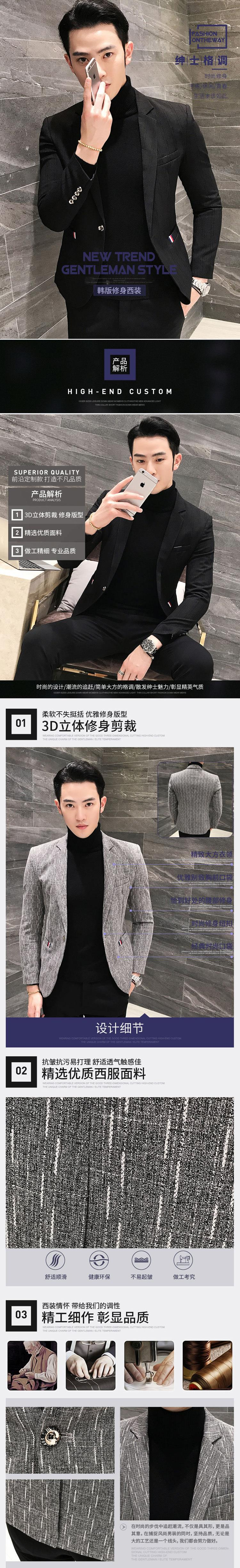 c7a93f588d 2019 Blazer Hombre 2018 New Brand Slim Fit Casual Blazer Men Grey ...
