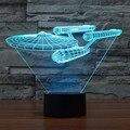 Hot 3D Led Night Light Novidade Star Trek Bulbificação USB Toque interruptor de Candeeiro de Mesa RGB Star Wars Luminaria de Mesa Decoração de Casa presente