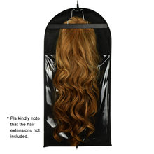 1 set Black Hair Extension Carrier Storage - Suit Case Bag and Hanger, Wig Stands Hair Extensions Hanger Hair Styling Accessory(China)