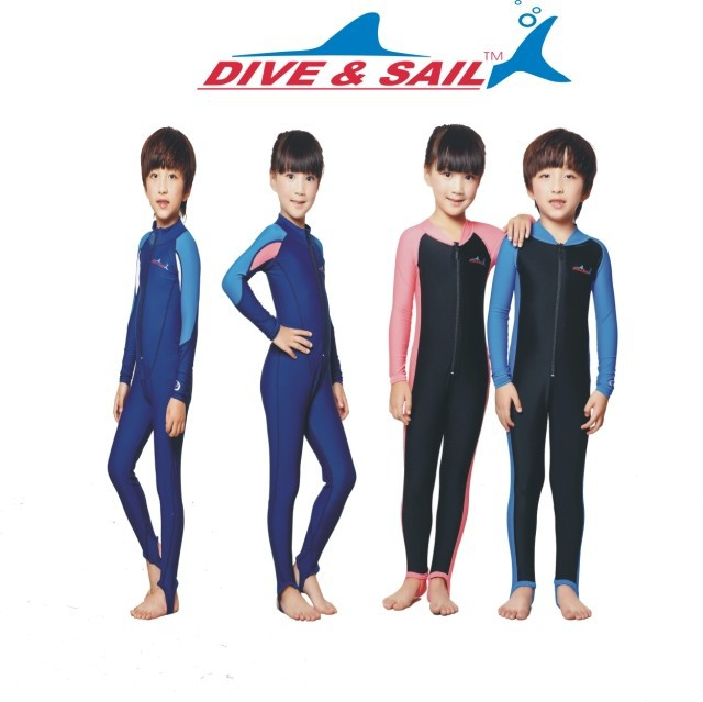 90a14bca3 Kids boys girls snorkeling clothing children's sun protection clothing  child diving suit wetsuits swimming dress