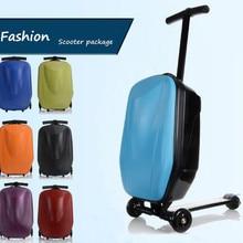 Дизайн детского чемодан-скутер с колеса скейтборда чемодан Чемодан Дорожный чемодан-тележка XL006