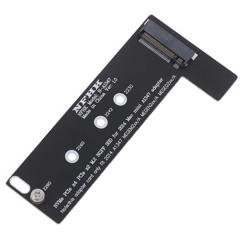 Baru PCI-Ex4 M.2 NGFF NVME AHCI SSD Converter Adaptor Kartu untuk 2014 Macbook Mini A1347