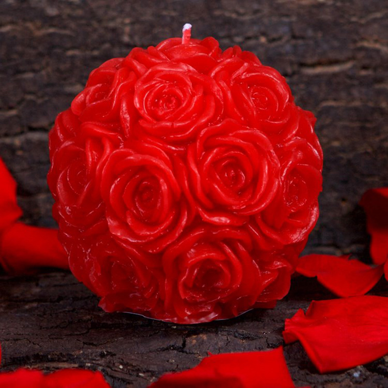 Nicole Silicone Candle Mold 3D Rose Ball Shape Handmade Soap Mould Craft Resin Clay Decorating Tool