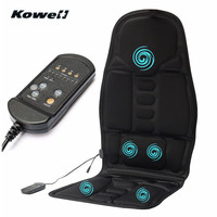 KOWELL Universal 8 Modes Car Seat Massage Cushion Cover Pad Case Adjustable Pain Relief Massager Support for Home Car Auto Truck