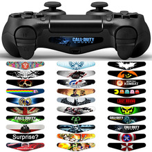 30PCS LED Light Bar Film Cover Decal Skin Sticker for PlayStation 4 Vinyl Stickers for PS4 Controller Dualshock Accessories(China)