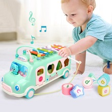 6-18M Baby Toys Child Piano Bus Toys kids Toddler Musical instruments Drum Kids Build Blocks Toys Early Musical Educational Toys