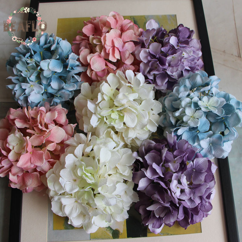 1pc Diy Artificial Flower Fake Carola Hydrangea Heads