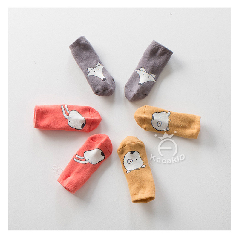 3 pair/lot Newborn Unisex Baby Socks Toddler Infant Fox Bunny Anti-Slip Thick Socks Children fleece Socks for Christmas Gift ...