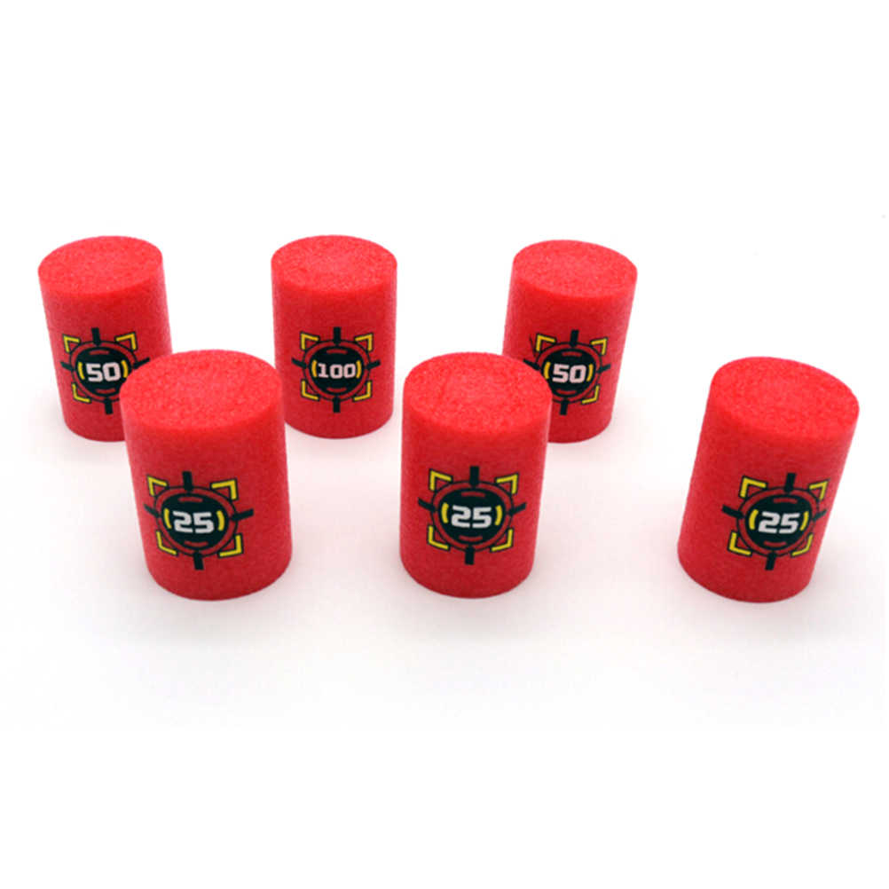 Gorąca sprzedaż 6 sztuk/zestaw czerwony EVA miękki pocisk cele dla blastery strzelanie gry Dart dla dzieci zabawki dla dzieci dzieci Gifes