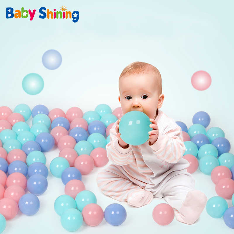 Baby Shining Ocean Balls Diameter 5.5CM Large Wave Ball 100PCS Eco-friendly Play Water Ball Macaron Color Ocean Wave Ball