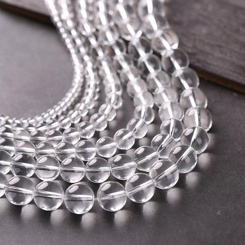 4 мм 6 мм 8 мм 10 мм 12 мм 14 мм прозрачный кварц Стекло бисер прозрачный кристалл Стекло es spacer Loose бусы DIY ювелирных изделий Выводы