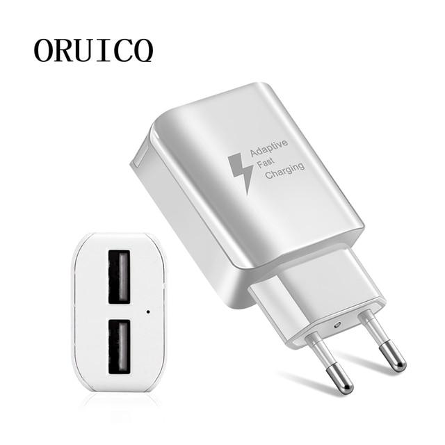Kép USB Sạc Nhanh Điện Thoại Di Động EU/US Cắm Tường Adapter Sạc Du Lịch Bộ Sạc micro usb cáp Đối Với Samsung Huawei xiaomi