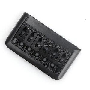 1 Черная электрогитара Hardtail Top нагрузочный мостик 6 струн фиксированный жесткий хвостовый части quehuo