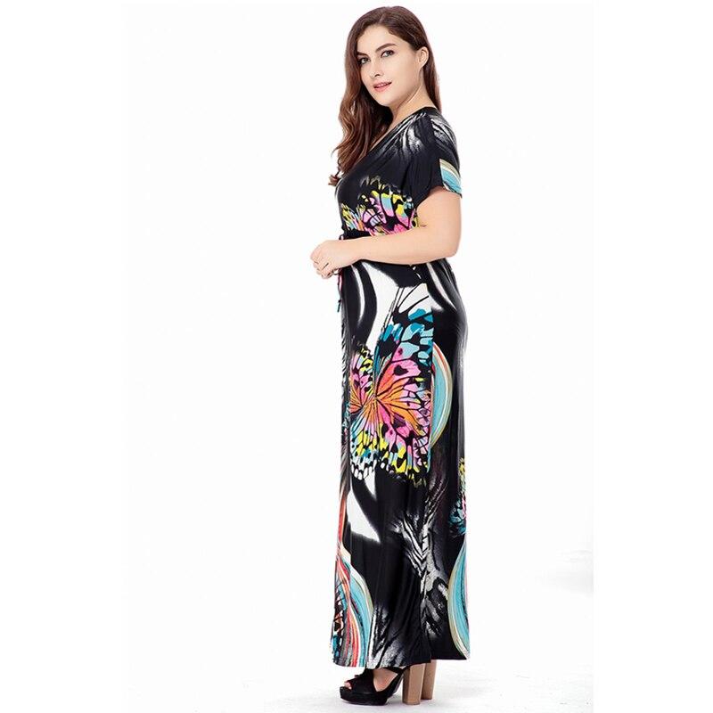 a470d4bcdc Plus size L 6XL Abstract watercolor printi new Women's dress US ...
