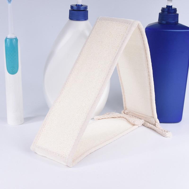 Natural Spa Unisex Cleaning Skin Care Brush Exfoliating Loofah Sponge Back Strap Bath Shower Body Massage