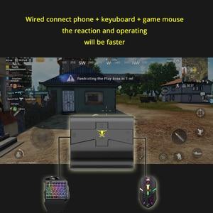 Image 5 - Konwerter Adapter PUBG Mobile gamepad do gier klawiatura z myszką dla android ios telefon do komputera zdalnej konsoli BattleDock