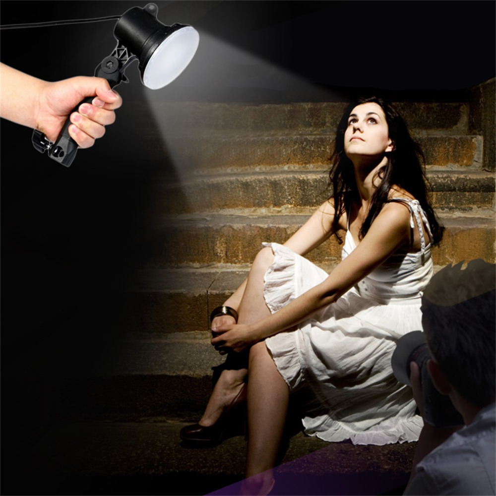 Handheld Portable LED Lamp Photography Studio Light Bulb EU Plug Bright For Portrait Softbox Fill Light Camera Lights