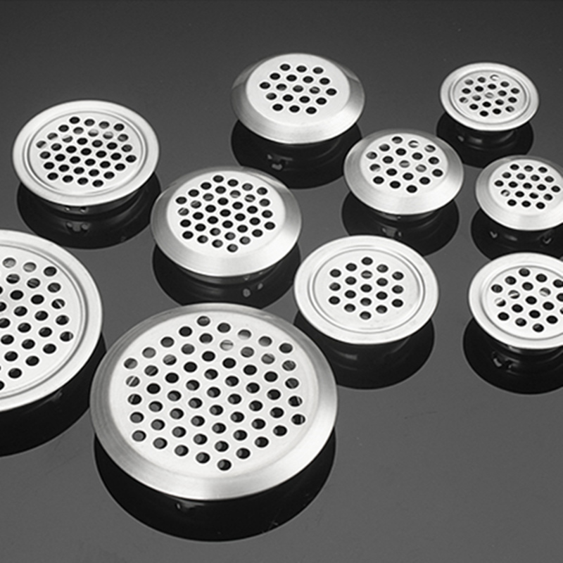 5pcs Wardrobe Cabinet Mesh Hole Air Vent Louver Ventilation Cover Stainless Steel Cutting Hole Dia.19mm/25mm/29mm/35mm/53mm