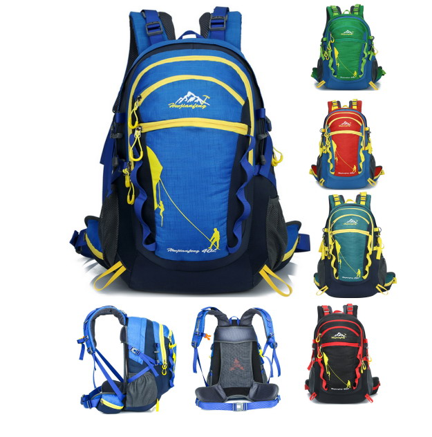 ФОТО Sport Camping Bike Backpack High-grade Oxford Cloth Waterproof Wear-resistant Hiking Backpack Outdoor Travel Bags Mochilas 40L